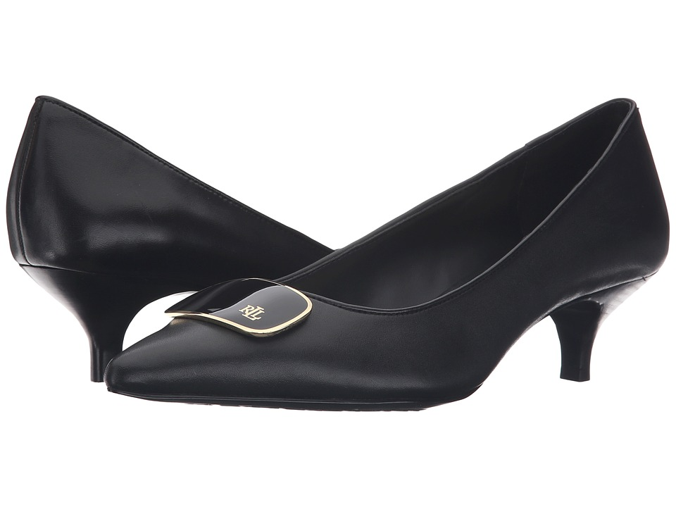 LAUREN Ralph Lauren - Abina (Black Signature Burnished Calf) Women's Shoes