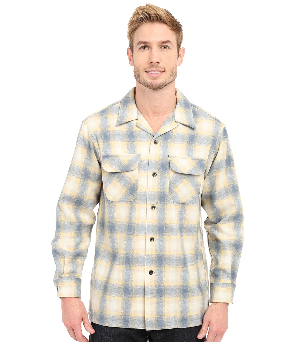 Pendleton - L/S Surf Board Shirt (Yellow/Tan/Grey) Men's Clothing