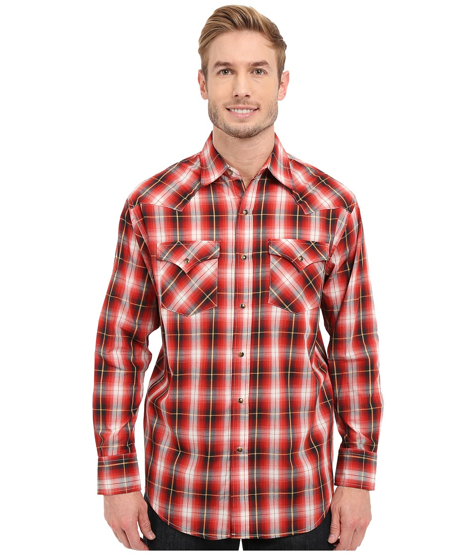Pendleton - Long-Sleeve Frontier Shirt (Red) Men's Long Sleeve Button Up