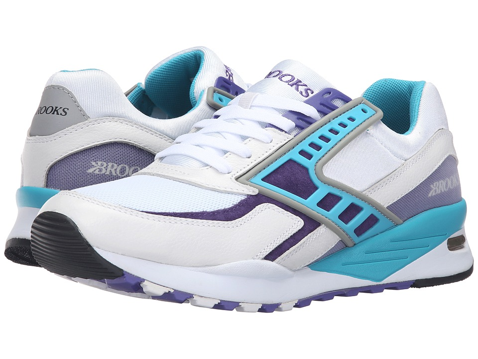 Brooks Heritage - Regent (White/Purple Opulance/Scuba Blue) Men's Shoes