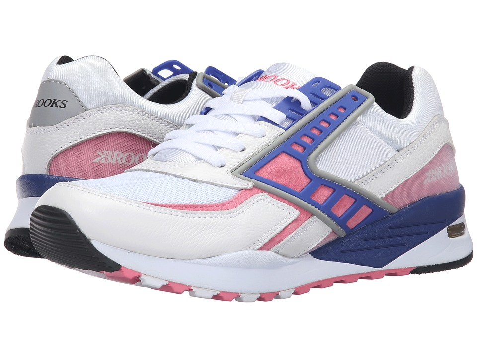 Brooks Heritage - Regent (White/Pink Lemonade/Deep Ultra) Men's Shoes