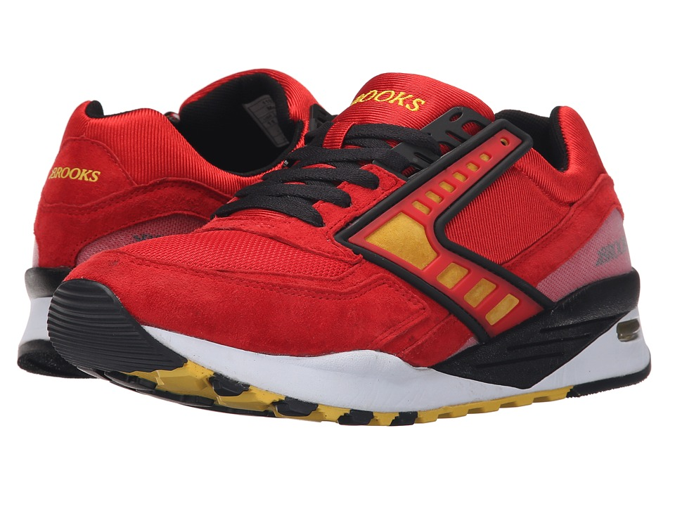 Brooks Heritage - Regent (High Risk Red/Vibrant Yellow/Black) Men's Shoes