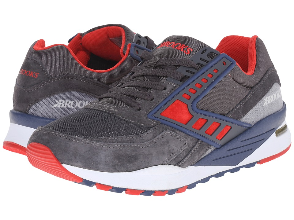 Brooks Heritage Regent (Anthracite/High Risk Red/Navy Blue) Men