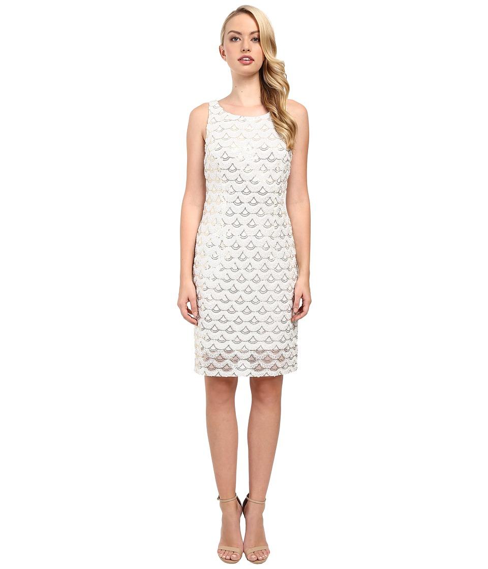 rsvp - Alexius Shimmer Dress (Gold/White) Women's Dress