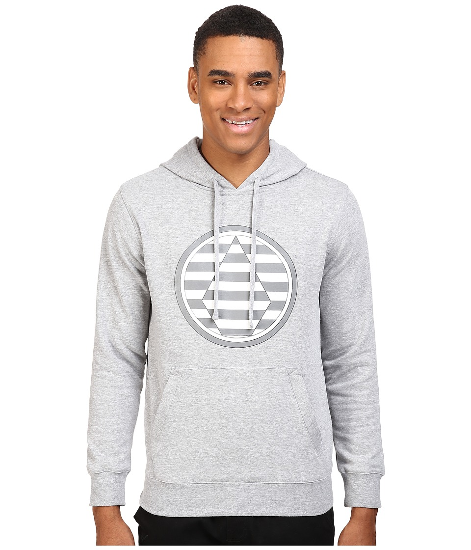 Volcom Snow - Striped Stone Fleece (Heather Grey) Men's Fleece