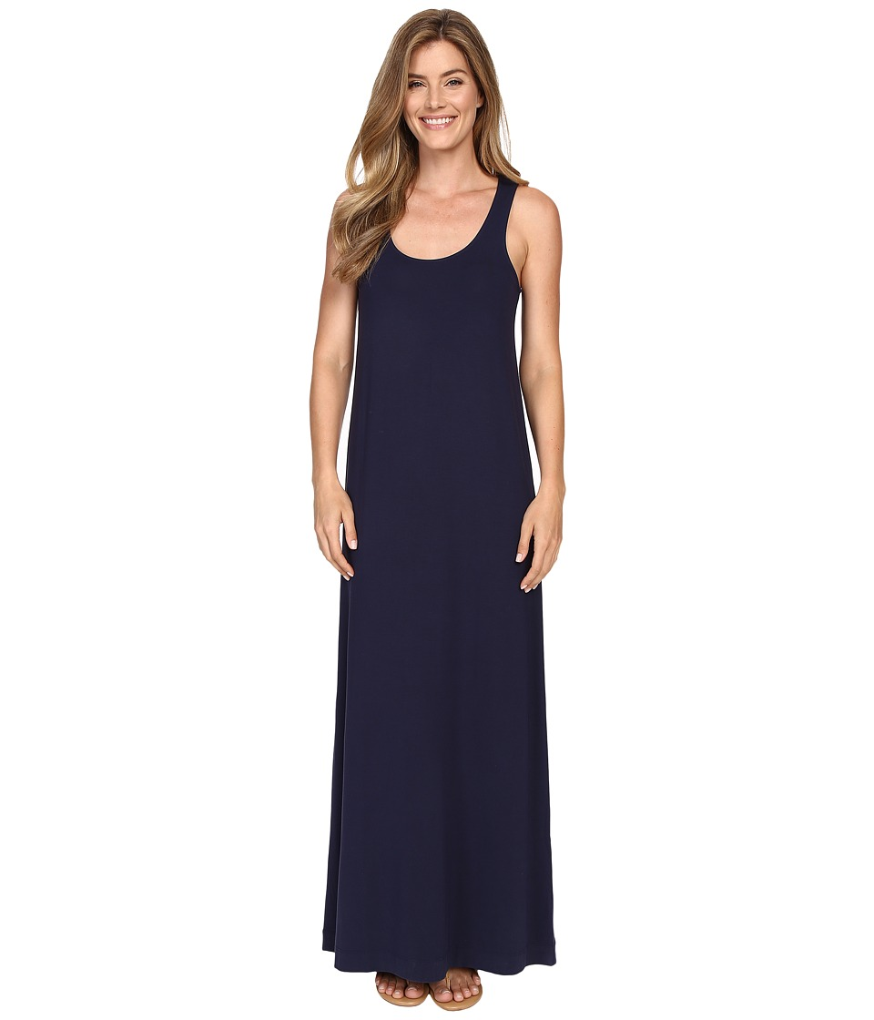 Lilla P Stretch Jersey Maxi Tank Dress (Peacoat) Women