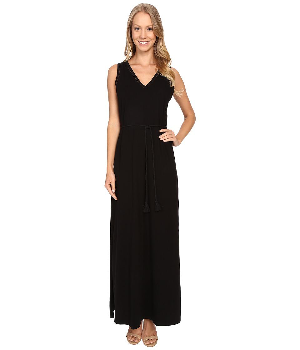 Lilla P - Pima Modal Stretch Maxi Tank Dress (Black) Women's Dress
