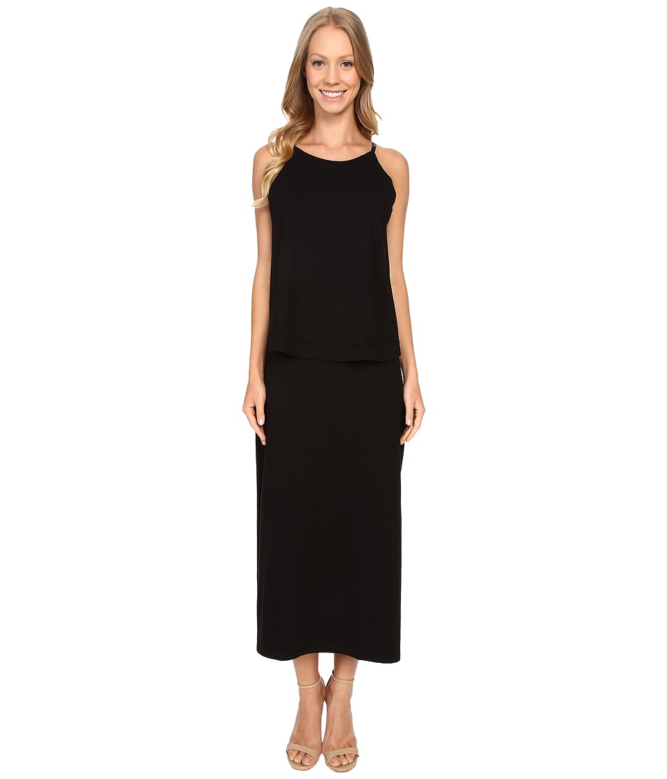 Lilla P Pima Modal Stretch Double Layer Tank Dress (Black) Women