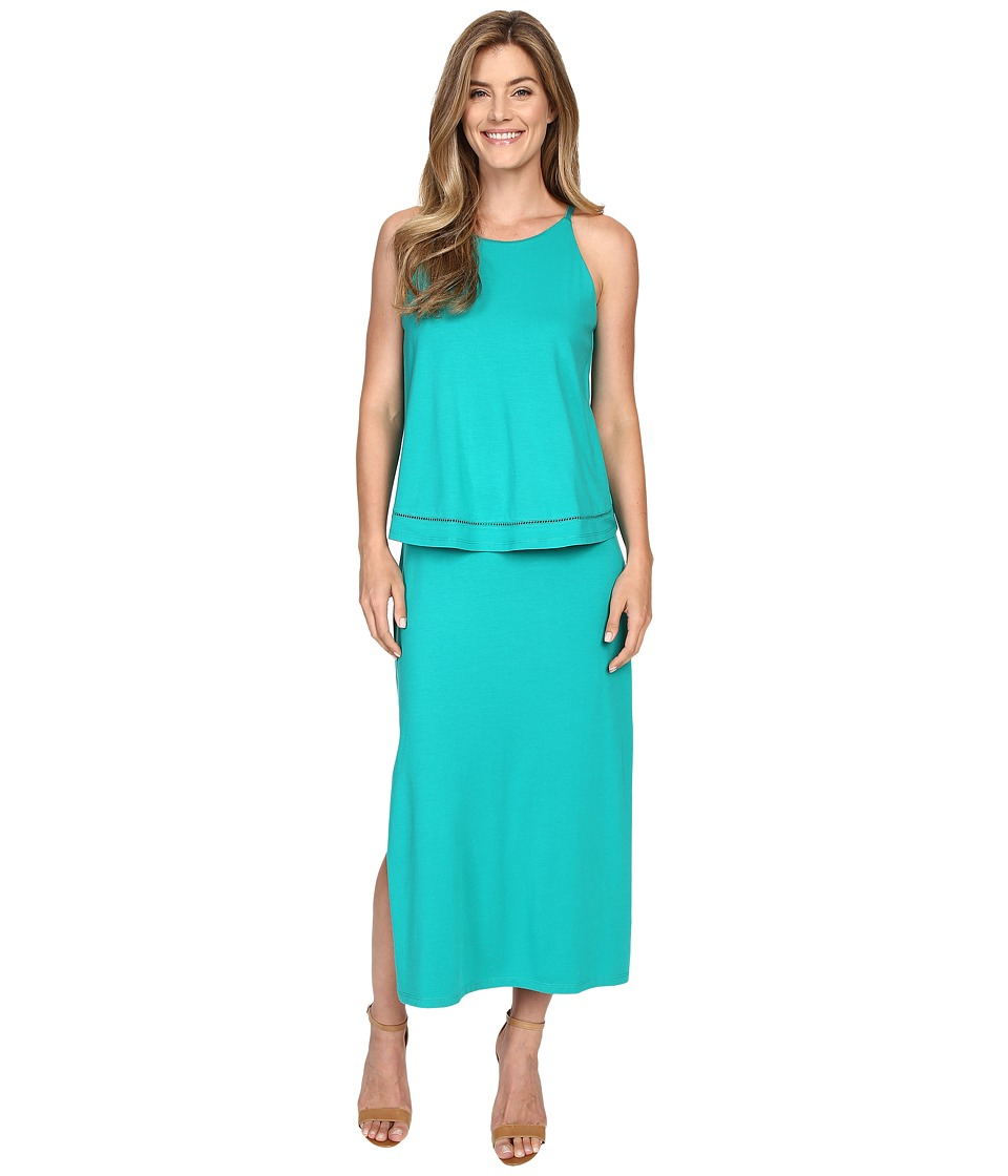 Lilla P Pima Modal Stretch Double Layer Tank Dress (Mallard) Women