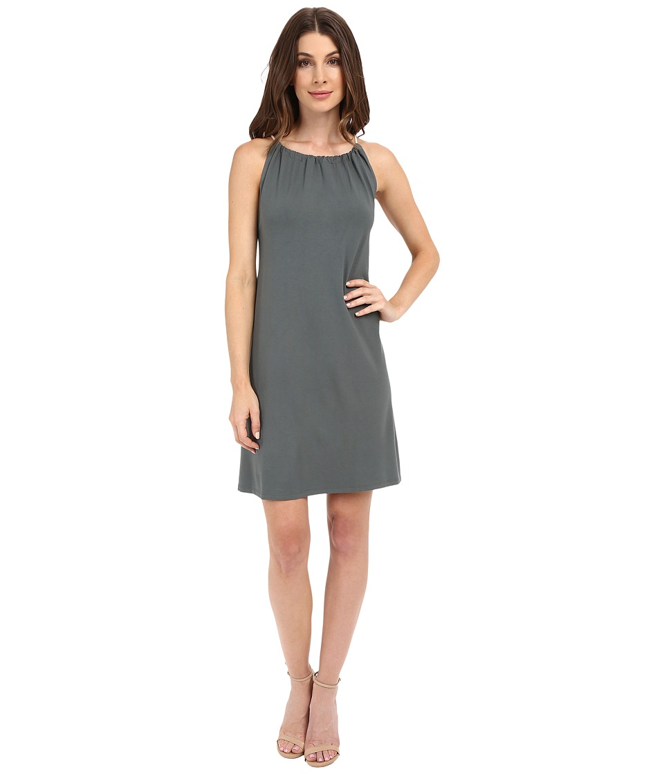 Lilla P - Stretch Jersey Shirred Neck Dress (Mineral) Women's Dress