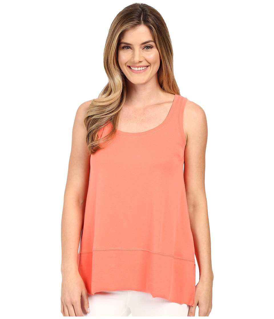 Lilla P - Fine Rib Scoop Tank Top (Guava) Women's Sleeveless