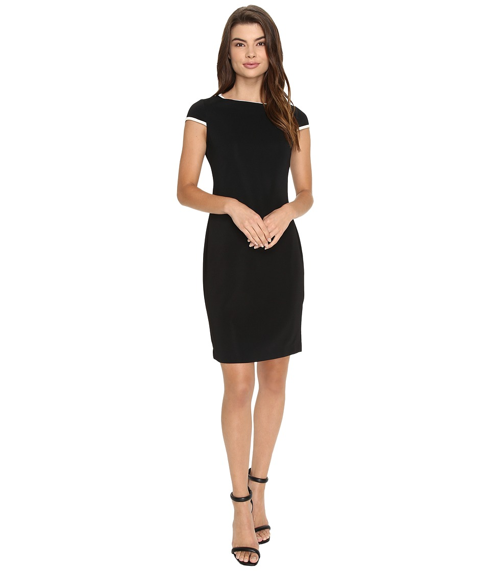 Christin Michaels - Tiara Sheath Dress (Black/White) Women's Dress