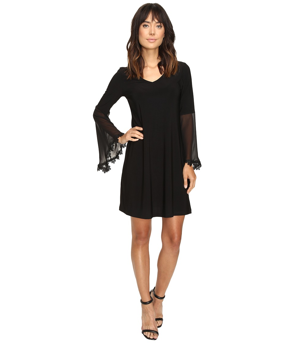 Christin Michaels - Becca Ballon Sleeve Dress (Black) Women's Dress