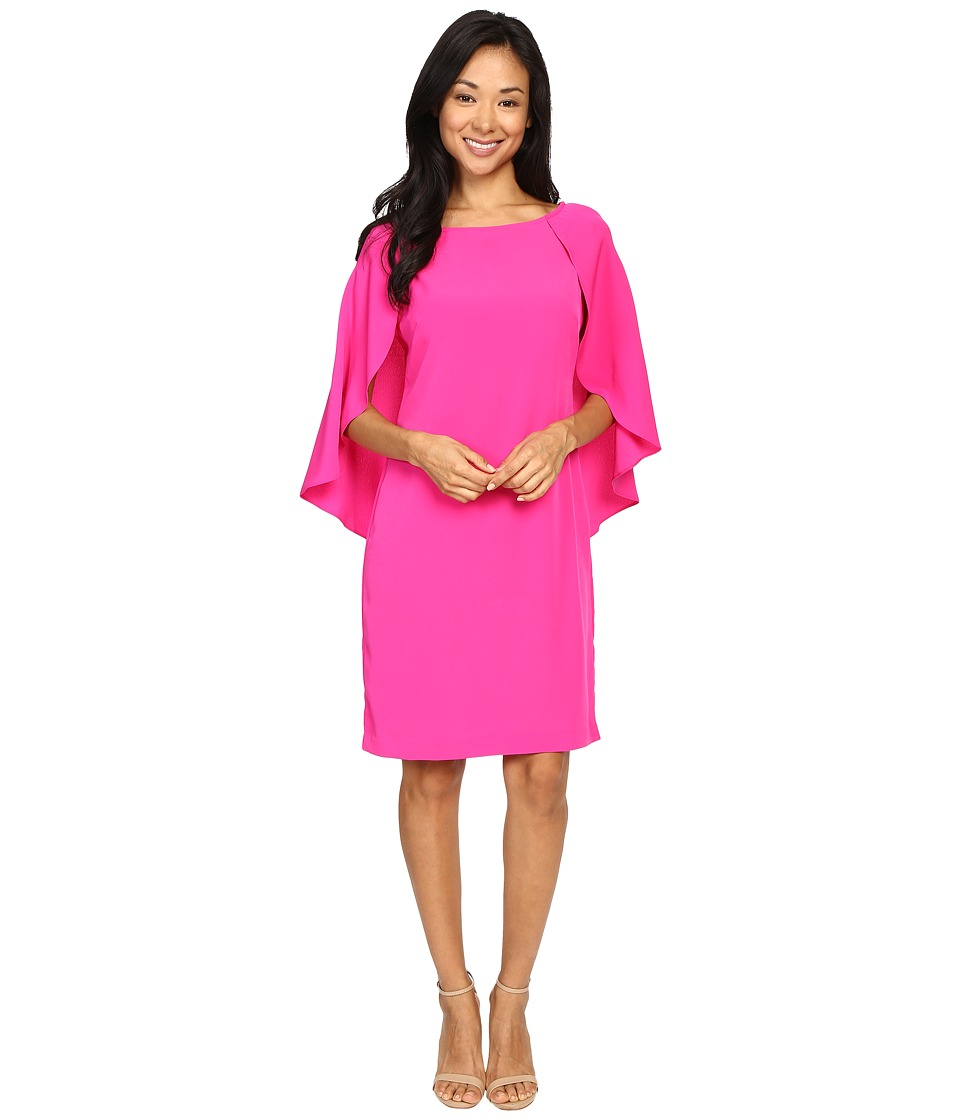 Christin Michaels - Britti Chiffon Sleeve Dress (Berry) Women's Dress