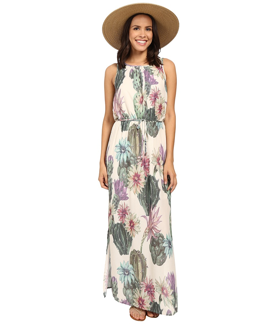 ONLY - Ariel All Over Print Maxi Dress (Whisper White Desert Cactus Print) Women's Dress