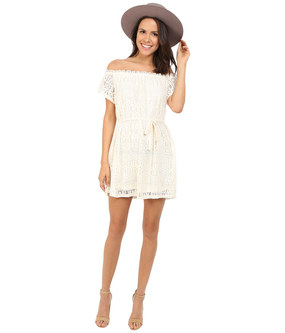ONLY - Gaya Short Sleeve Off the Shoulder Dress (Whisper White) Women's Dress