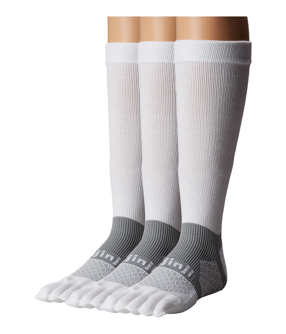 Injinji - Multi-Sport Midweight Crew 3-Pack (White 1) No Show Socks Shoes