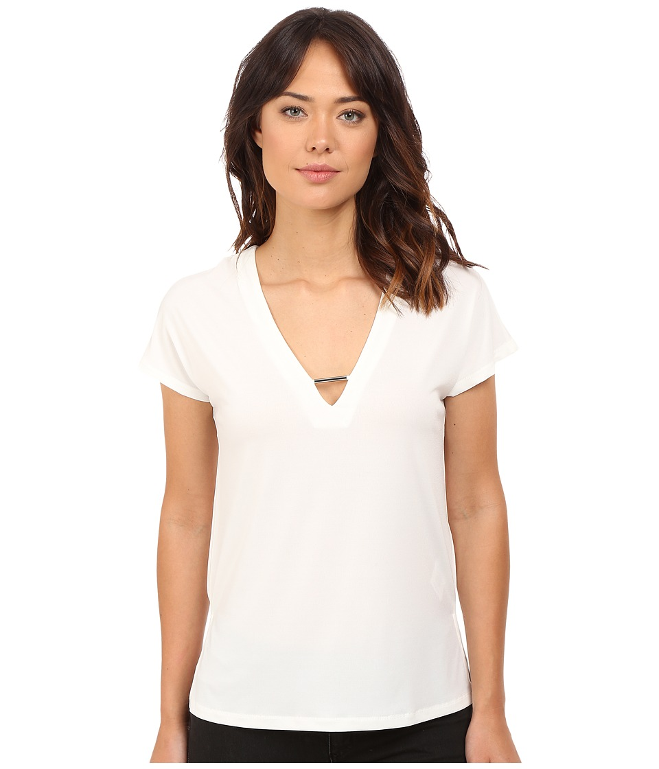 ONLY - Zig Short Sleeve Top (Cloud Dancer) Women's Short Sleeve Pullover