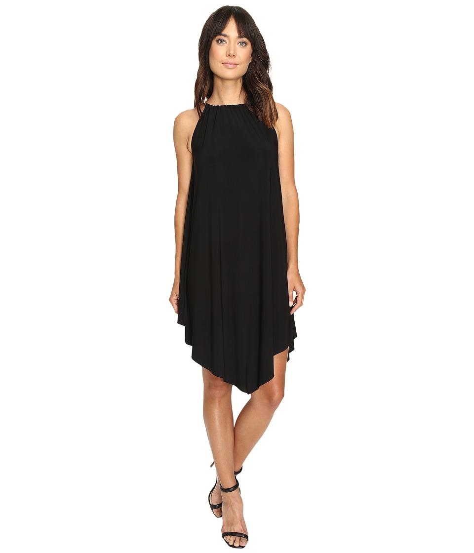 Christin Michaels - Mari Twist Strap Halter Dress (Black/Gold) Women's Dress