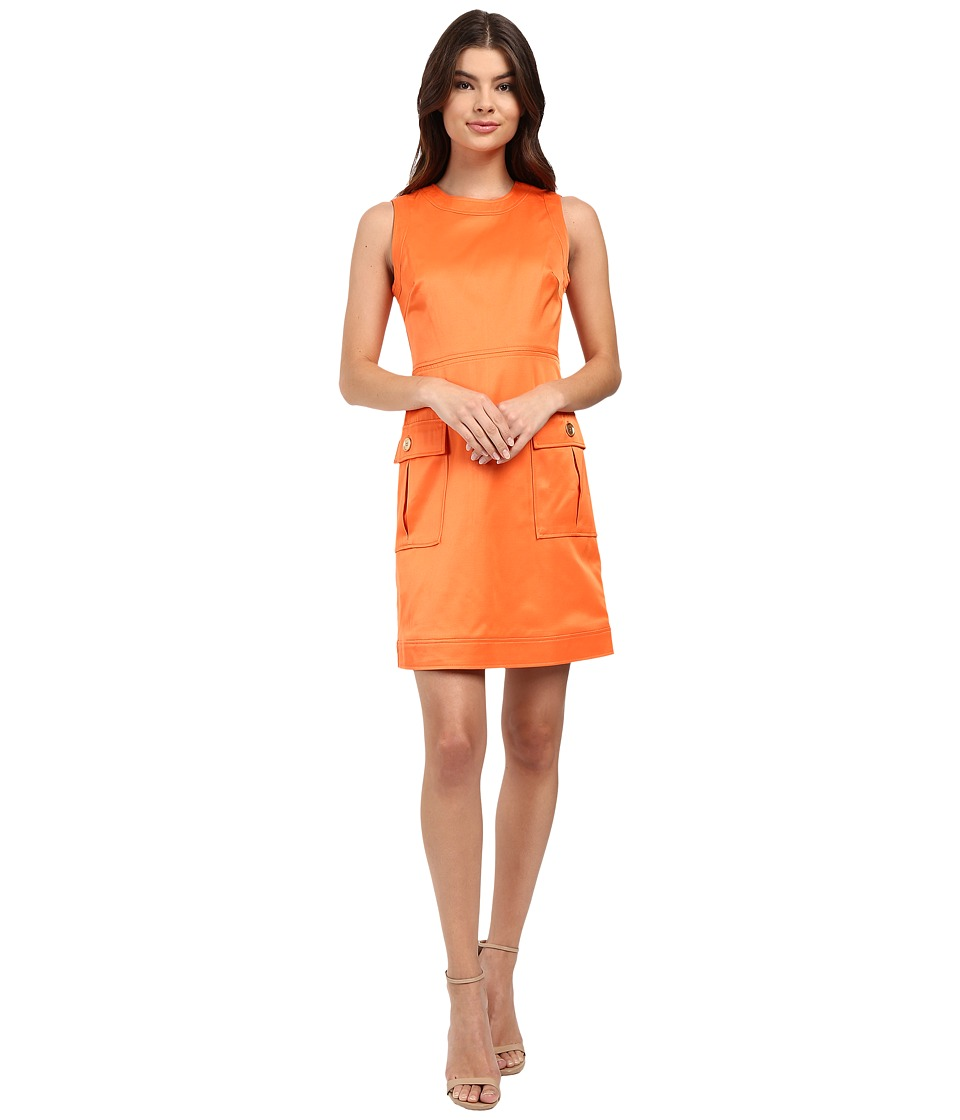 Christin Michaels - Zac Sleeveless Round Neck Dress (Clementine) Women's Dress