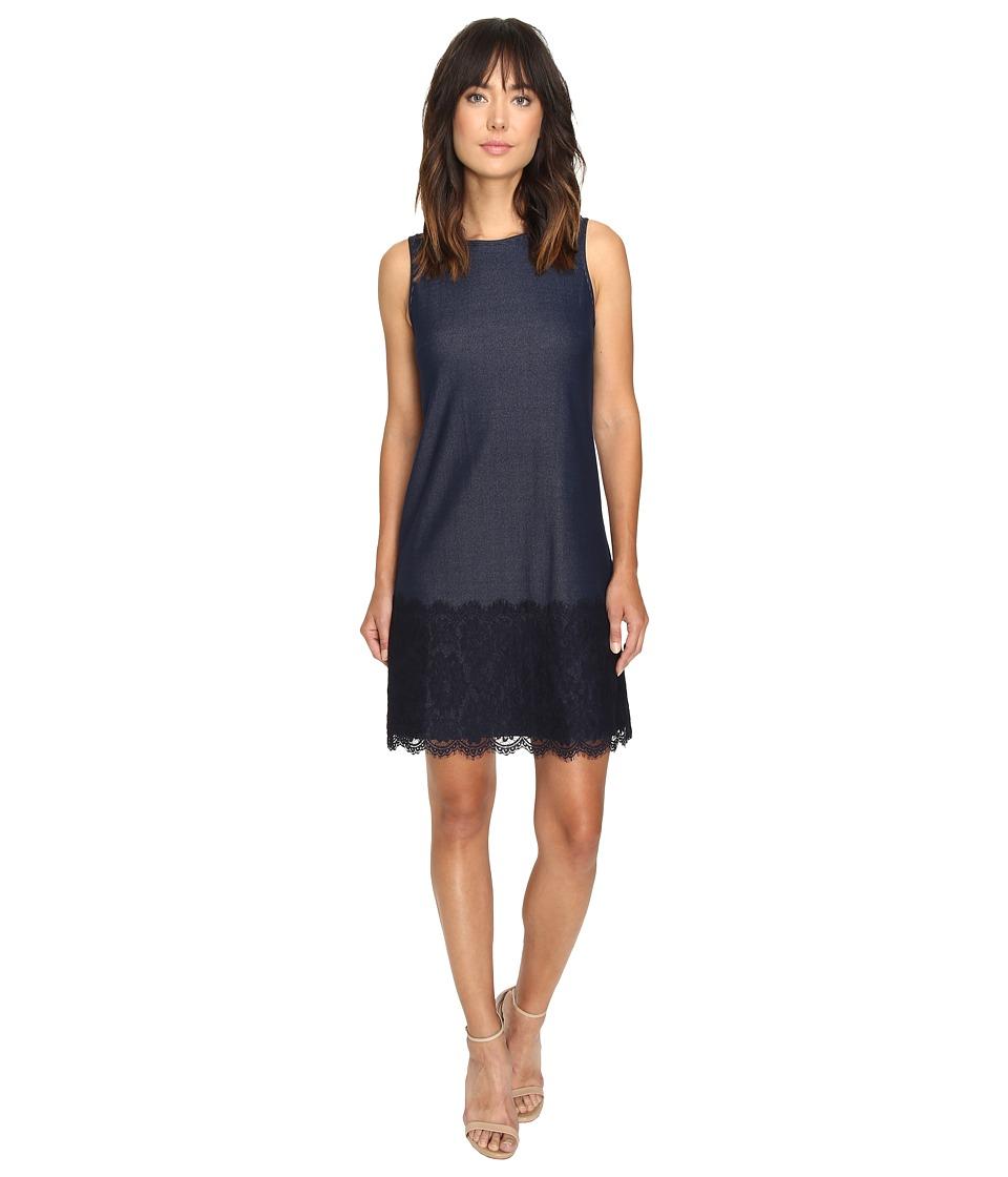 Christin Michaels - Zach Sleeveless Shift Dress (Navy) Women's Dress