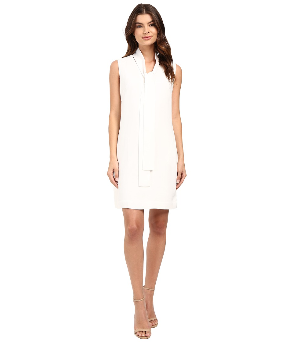 Christin Michaels - Romantic Tie Front Sleeveless Dress (Ivory) Women's Dress