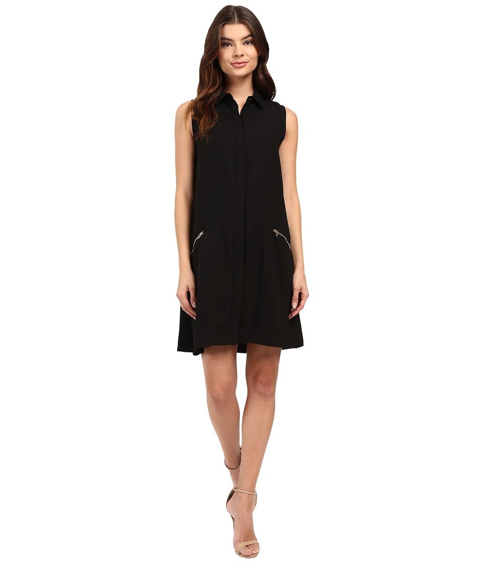 Christin Michaels Johnson Zip Pocket Dress (Black) Women