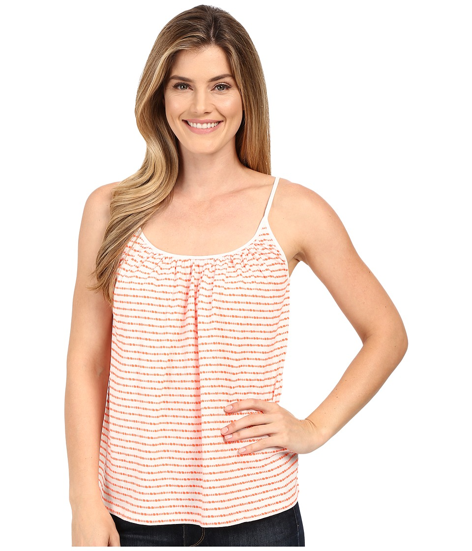 Lilla P - Textured Stripe Swing Camisole (Tangerine Stripe) Women's Sleeveless