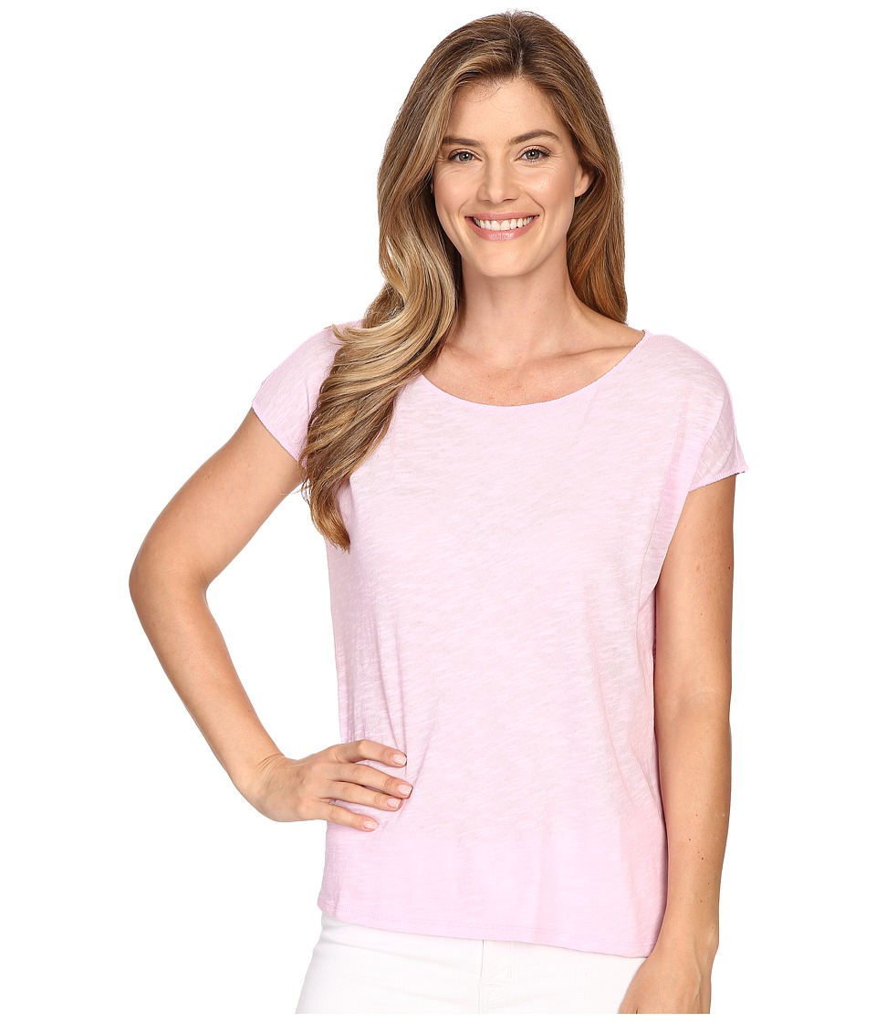 Lilla P - Flame Gauze Dolman Sleeve Boat Neck (Pink Blossom) Women's T Shirt