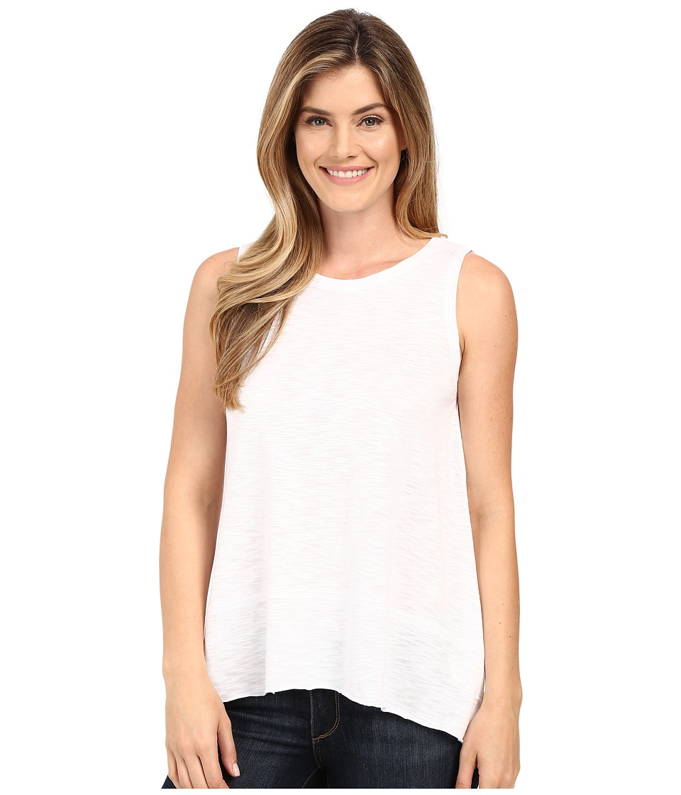 Lilla P - Pima Modal Slub Sleeveless Shell (White) Women's Sleeveless