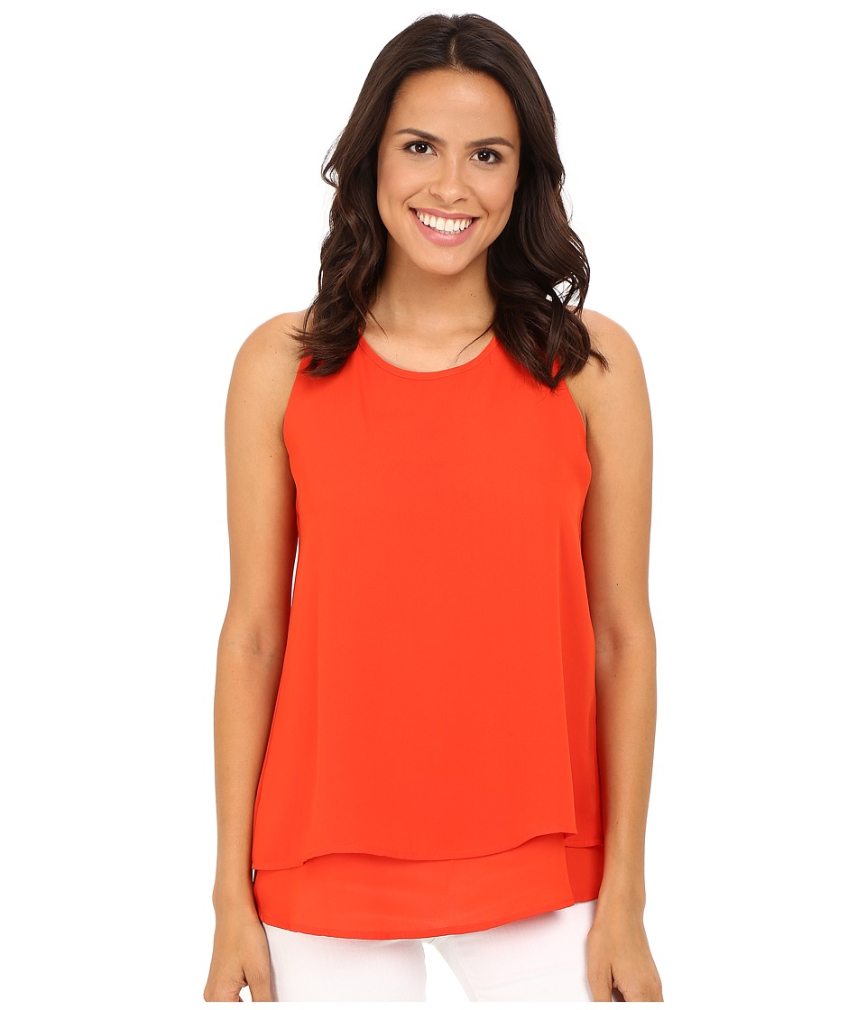 Christin Michaels - Reunion High Neck Top (Orange Blaze) Women's Clothing