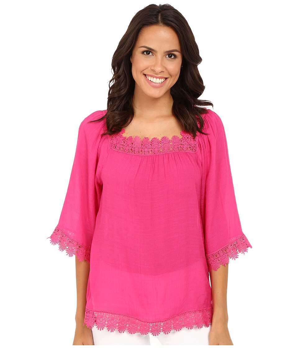 Christin Michaels - Claire Peseant Blouse (Pink) Women's Blouse