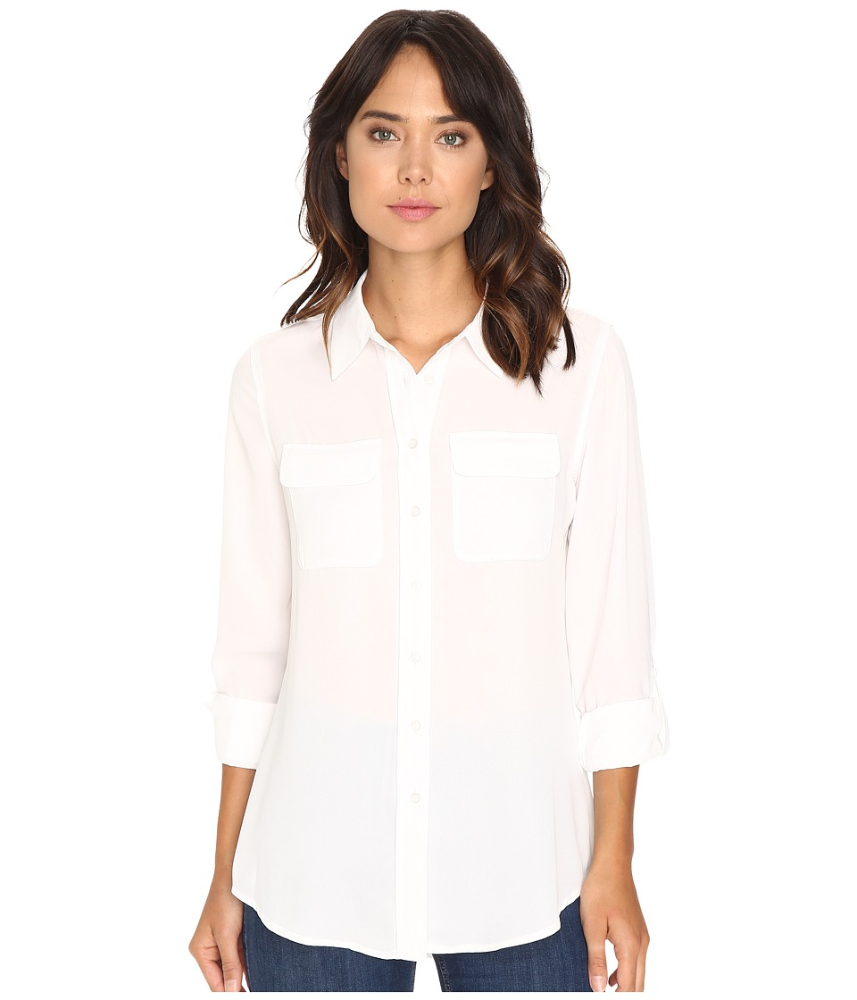Christin Michaels - Paula Button Down Blouse (Sea Shell) Women's Blouse