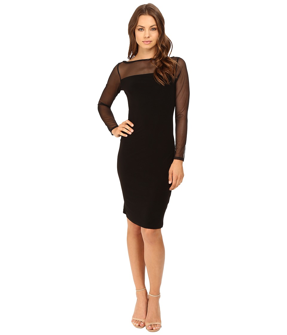 rsvp - Scarlett Sheer Sleeved Dress (Black) Women's Dress