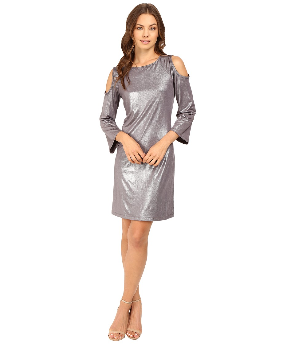 rsvp - Liquid Gold Cold Shoulder Dress (Gold) Women's Dress