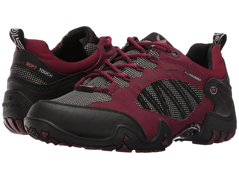 Allrounder by Mephisto - Fabia Tex (Black Rubber/Winter Red T Nubuck N) Women's Shoes