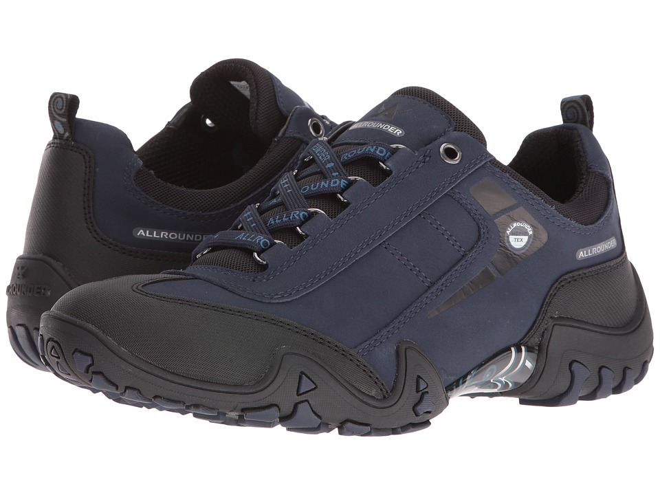 Allrounder by Mephisto - Fina Tex (Black Rubber/Indigo G Nubuck) Women's Lace up casual Shoes