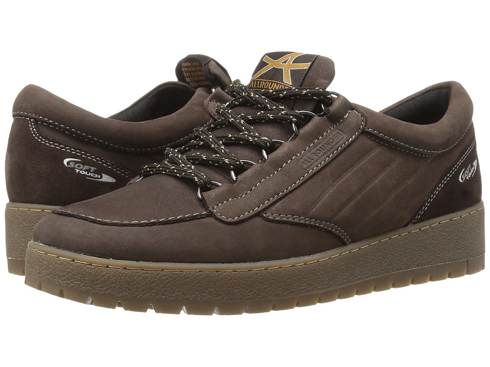 Allrounder by Mephisto - Otira (Root Dark Brown Nubuck N) Women's Lace up casual Shoes
