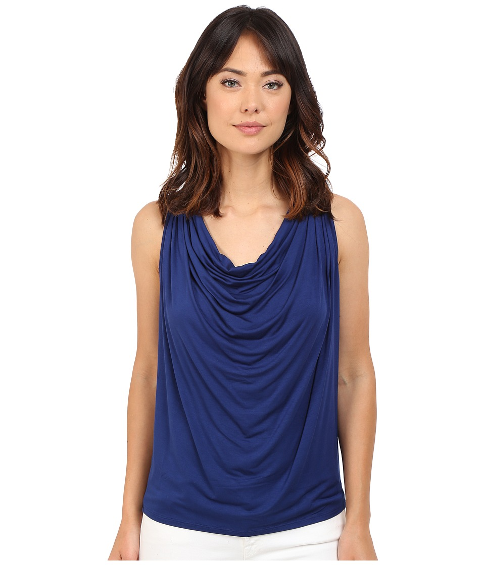 Brigitte Bailey - Drapery Front Sleeveless Tank Top (Night Storm) Women's Sleeveless
