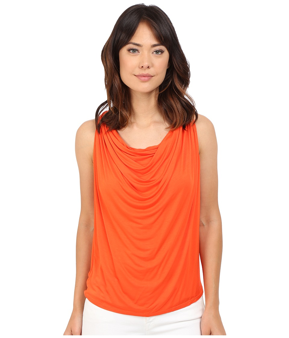 Brigitte Bailey - Drapery Front Sleeveless Tank Top (Tango) Women's Sleeveless