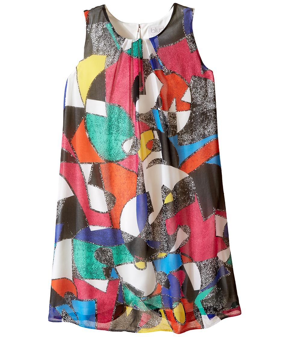 Us Angels - Printed Chiffon Sleeveless A-Line Dress (Big Kids) (Multi) Girl's Dress