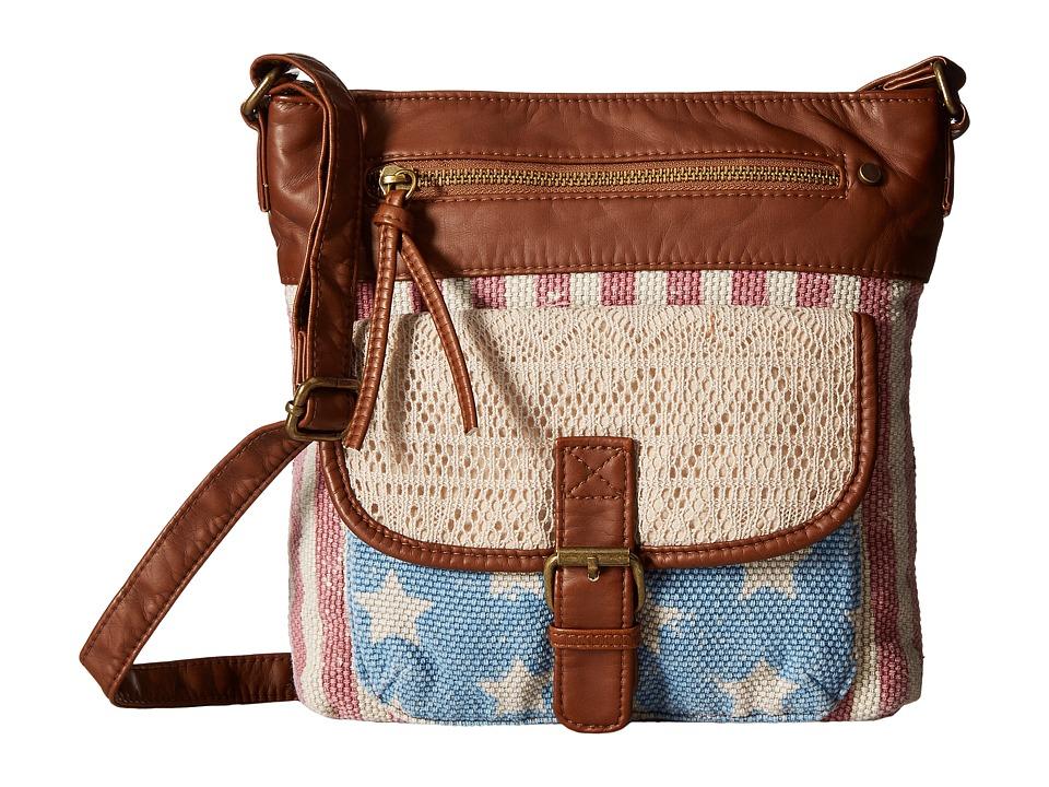 Gabriella Rocha - Americana Crossbody Purse with Front Pocket (Camel) Cross Body Handbags
