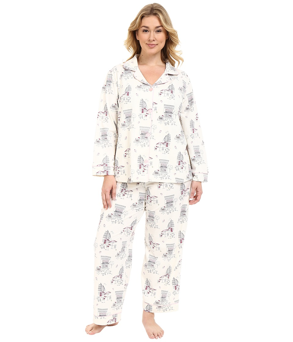 BedHead - Plus Size Long Sleeve Classic PJ Set (Hello Kitty Cafe) Women's Pajama Sets