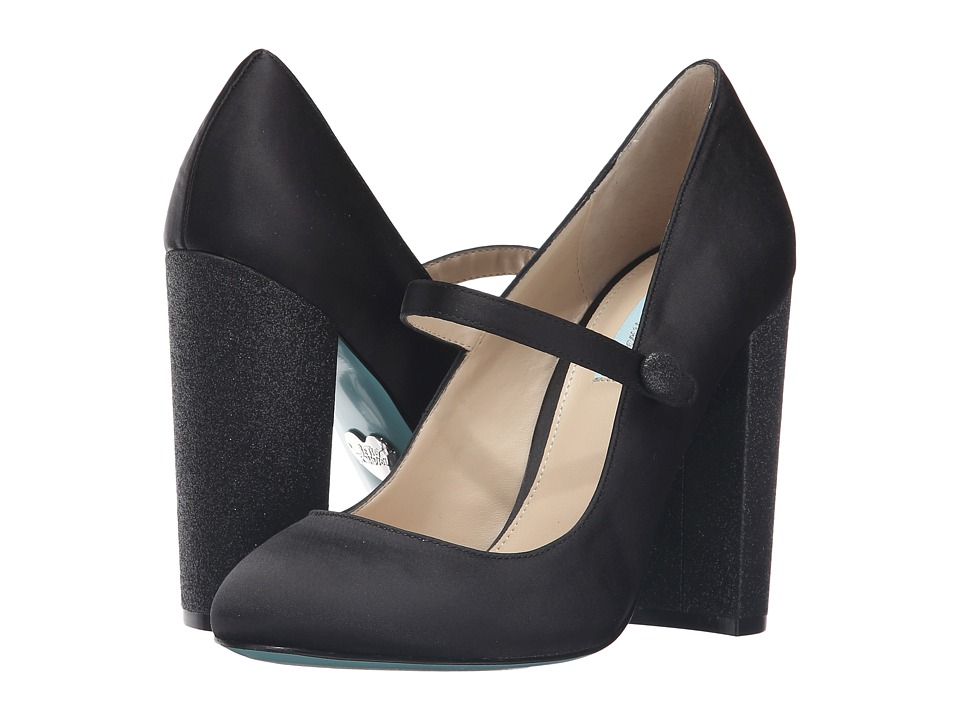 Blue by Betsey Johnson - Kate (Black Satin) High Heels