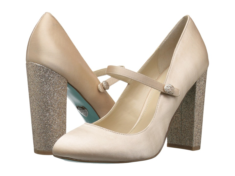 Blue by Betsey Johnson Kate (Champagne Satin) High Heels