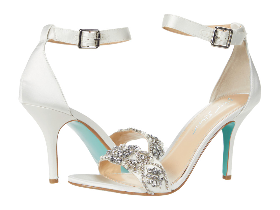 Blue by Betsey Johnson - Gina (Ivory Satin) Women's 1-2 inch heel Shoes