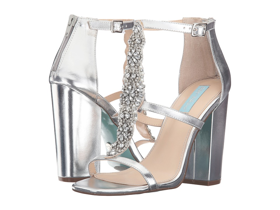 Blue by Betsey Johnson Lydia (Silver Metallic) High Heels
