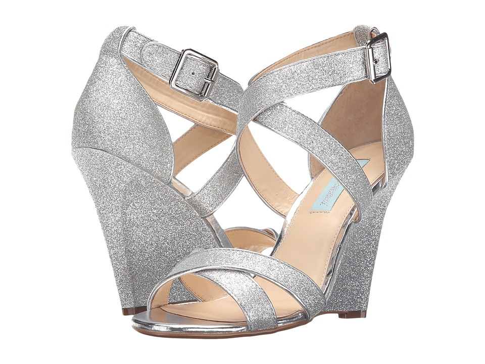 Blue by Betsey Johnson - Cherl (Silver Glitter) Women's Sandals