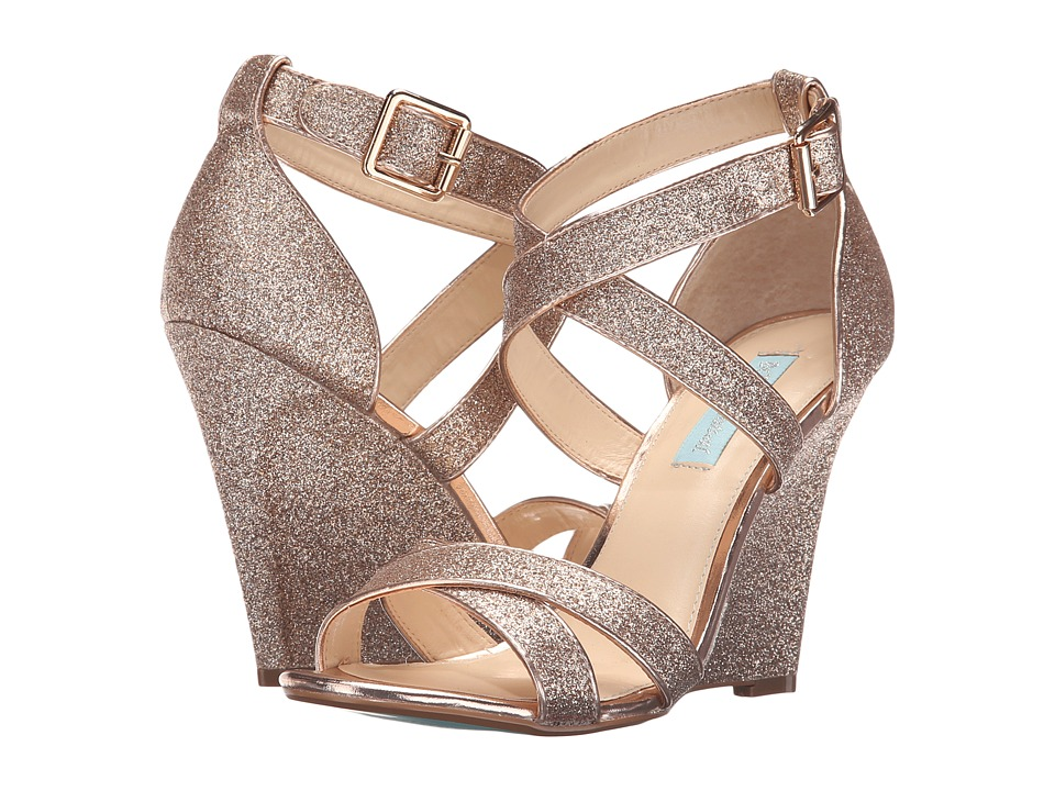 Blue by Betsey Johnson - Cherl (Champagne Glitter) Women's Sandals