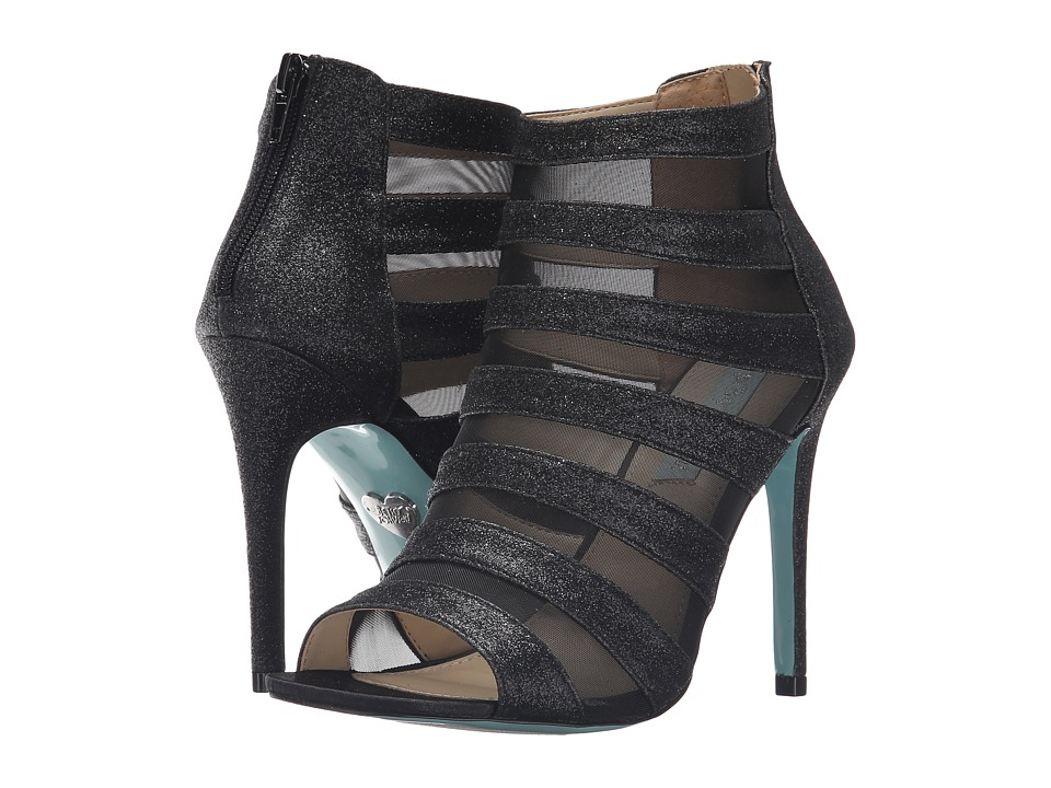 Blue by Betsey Johnson Alix (Black Glitter) High Heels